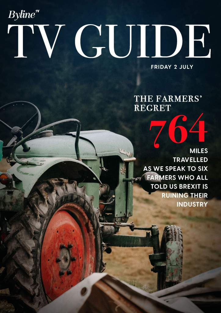 Byline TV Guide - example cover